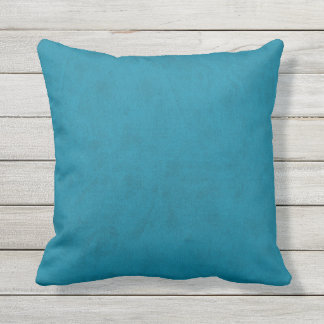 Ocean Blue Water Teal Color Velvet Look Throw Pillow