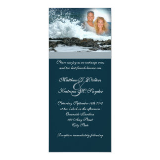 Ocean Blue Wedding Card