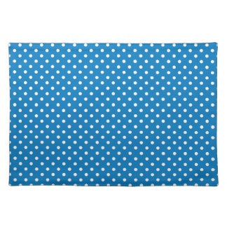 Ocean Boat Blue Polka Dot Pattern Placemat