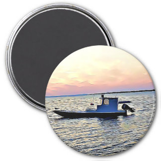 Ocean Boats at Sunset Magnet