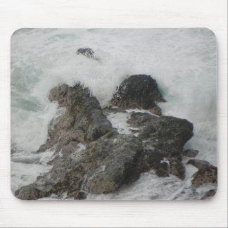 Ocean Breaking on the Rocks Mouse Pad
