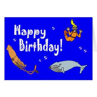 Ocean Children's Happy Birthday Card