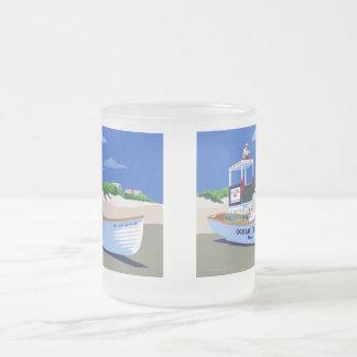 Ocean City Beach Patrol Frosted Glass Coffee Mug