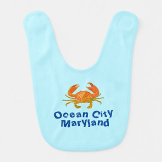 Ocean City Crab Baby Bib