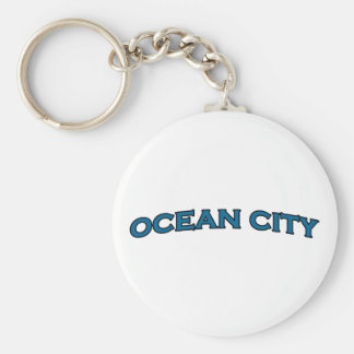 Ocean City Maryland Arched Text Logo Keychain