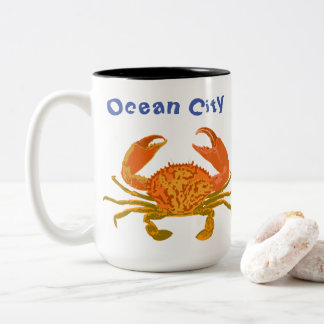 Ocean City, Maryland, Pop Crab Two-Tone Coffee Mug