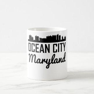 Ocean City Maryland Skyline Coffee Mug