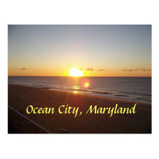 Ocean City, MD Sunrise Postcard