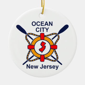 Ocean City NJ Ceramic Ornament