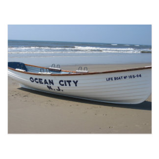 Ocean City, NJ * Summer Fun * Shore Boat Postcard
