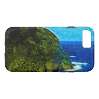 Ocean Cliff On the Road to Hana Maui Abstract iPhone 7 Case