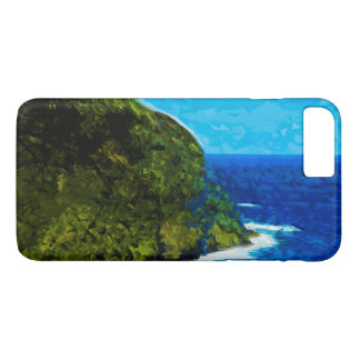 Ocean Cliff On the Road to Hana Maui Abstract iPhone 7 Plus Case