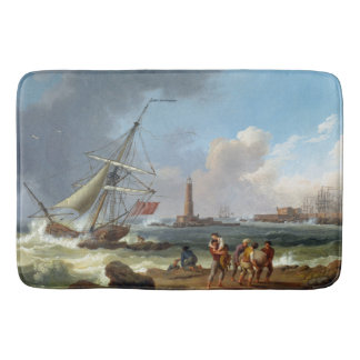 Ocean Coast Clipper Ships Shipwrecked Bath Mat