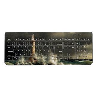 Ocean Coast Lighthouse Beach Beacon Keyboard