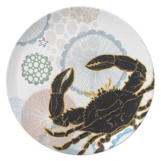 Ocean Coastal Crab Party Plates