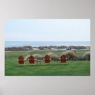 Ocean Course Chairs, Kiawah Island, South Carolina Poster