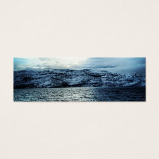 Ocean Dark Blue Clouds Bookmark Mini Business Card