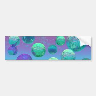 Ocean Dreams - Aqua and Violet Ocean Fantasy Bumper Sticker