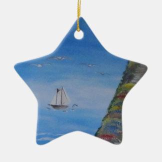 Ocean Dreams Square Ceramic Ornament