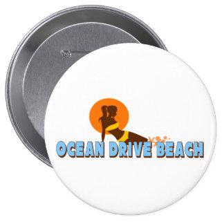 Ocean Drive Pinback Button