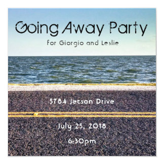 Ocean Drive Going Away Party Invitation