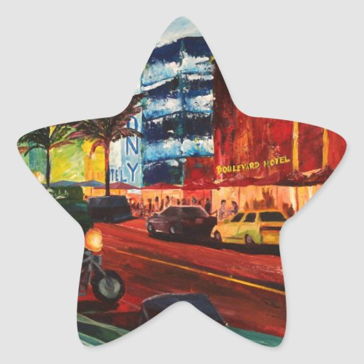 Ocean Drive Miami With Mint Cadillac Star Sticker