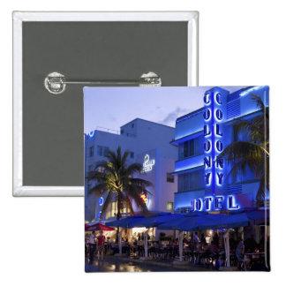 Ocean Drive, South Beach, Miami Beach, 2 2 Inch Square Button