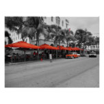 Ocean Drive South Beach Miami Oldtimers Poster