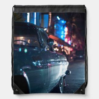 Ocean Drive vintage car Backpacks