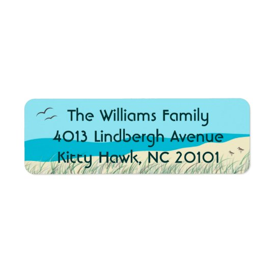Ocean Dunes Seagrass Address Labels