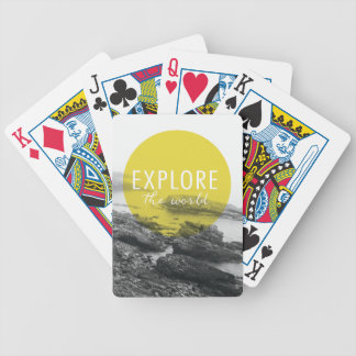 Ocean | Explore The World Quote Bicycle Playing Cards