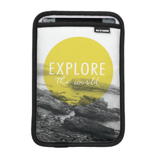 Ocean | Explore The World Quote iPad Mini Sleeve