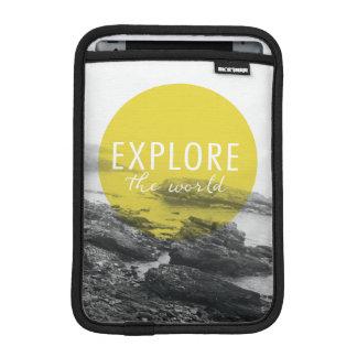 Ocean | Explore The World Quote iPad Mini Sleeves