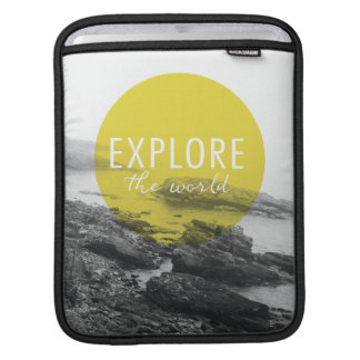 Ocean | Explore The World Quote iPad Sleeve