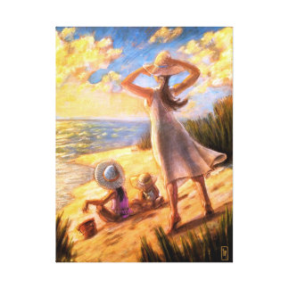 Ocean Family Beach Seascape Art Print