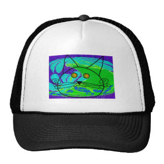 Ocean Fearing Cat Poster --Whimisical Trucker Hat