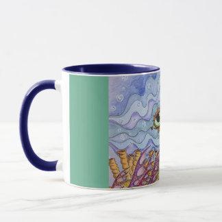Ocean fish eyes coffee mug