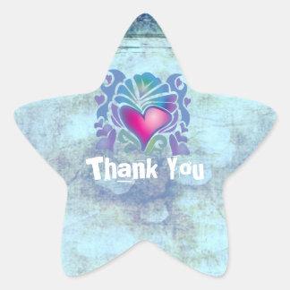 ocean fish seashells island tropical wedding star sticker