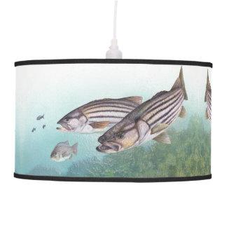 Ocean Fish Striped Bass Fishing Sea Hanging Lamp