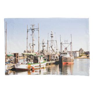 Ocean Fishing Boat Pillow Case