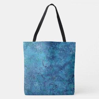 Ocean Floor Batik Tote Bag