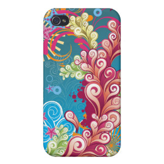 Ocean Flourish - Abstract Vector for 4 Case For The iPhone 4