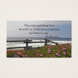 Ocean Flowers God's Boundless Love Wallet Card