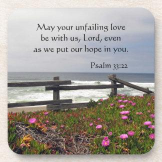 Ocean Flowers Unfailing Love Coasters