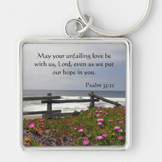 Ocean Flowers Unfailing Love Key Chain