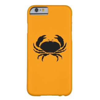 Ocean Glow_Black-on-Orange Crab Barely There iPhone 6 Case