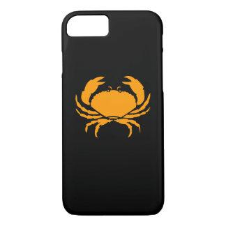 Ocean Glow_Orange on Black Crab iPhone 7 Case