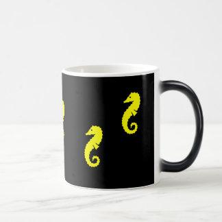 Ocean Glow_Yellow Seahorse morphing Magic Mug