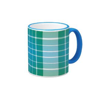 Ocean Grid Plaid Mugs