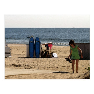 Ocean Grove NJ beach - Surf Boards Postcard
